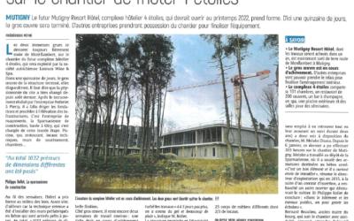 Notre participation au chantier de l'hôtel 4 étoiles à Mutigny.